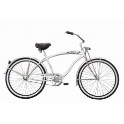 "26""  ROVER White Beach Lowrider Bicycle"