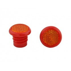 Grips End Reflector Red