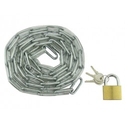 "Chain Lock 72"" x 5mm Clear"