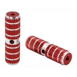"Alloy Pegs 661 24/26t W=1.10"" l=4 1/2"" Red"