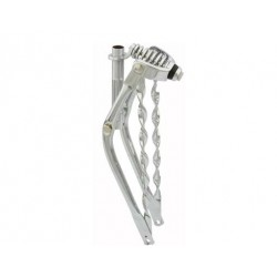 """20"""" Classic Spring Fork 1"""" W/Twisted Bars Chrome"""